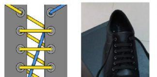Cách buộc dây giày đan chéo