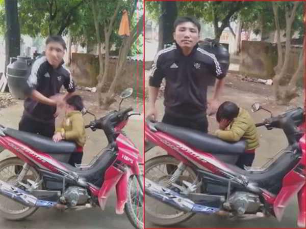 Người đàn ông tát vào mặt con trai khi cãi nhau với vợ cũ gây phẫn nộ