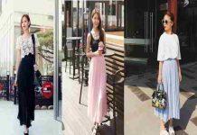 Cách phối đồ với chân váy maxi hợp thời trang