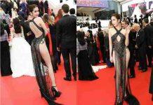 Tranh cãi việc Ngọc Trinh hở bạo tại liên hoan phim Cannes
