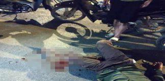Xe biển xanh tông tài xế xe ôm bị thương rồi bỏ chạy