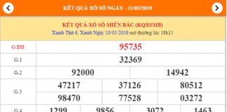 dự đoán xsmb ngày 11/05/2019
