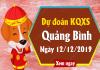 Dự đoán lô tô xổ số quảng bình thứ 5 ngày 12/12