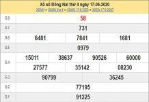 Dự đoán XSDN 24/6/2020