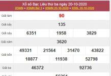 Dự đoán XSBL 27/10/2020 thứ 3 hôm nay chính xác nhất