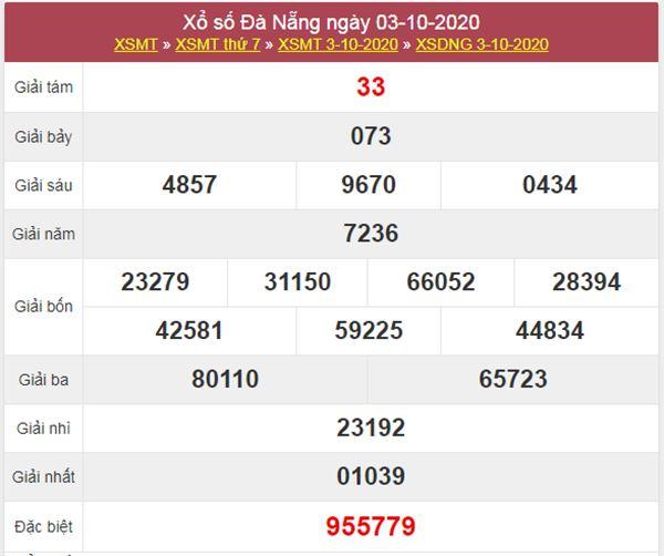Dự đoán XSDNG 7/10/2020 chốt lô VIP Đà Nẵng thứ 4