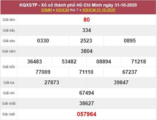 Dự đoán XSHCM 2/11/2020 thứ 2 hôm nay chính xác nhất