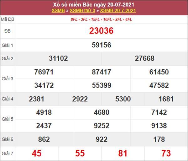 Dự đoán XSMB ngày 21/7/2021 thứ 4 chốt lô VIP chuẩn xác