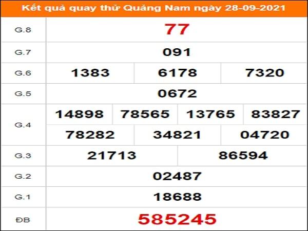 Quay thử Quảng Nam ngày 28/9/2021 thứ 3